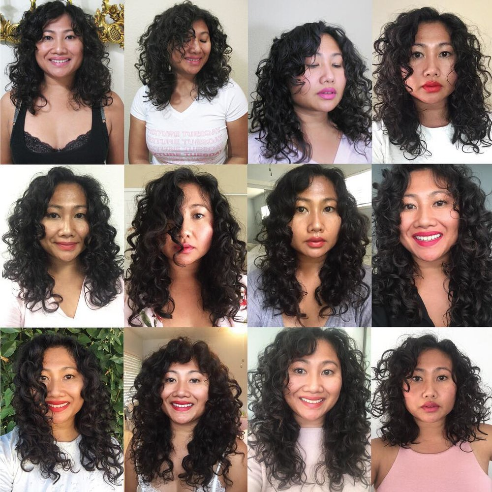 A glimpse into Rosie's curly hair journey.