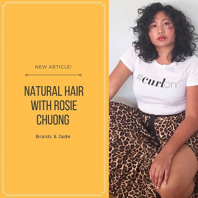 """Happy Friday! In our newest series, """"This is Asia-Diaspora"""" we sat down with @rosiechuong to talk about natural hair in the Asian community as well as body and skin color acceptance. Link in bio!"""