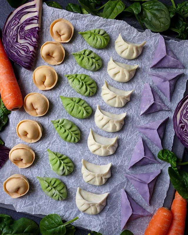 """#repost from Wei (@red.house.spice) of these stunning rainbow dumplings! In many parts of China - especially the north -  families come together to make dumplings. Make sure to say """"Zhāo cái jìn bǎo!"""" (""""Bringing in wealth and treasure!"""") for a lucky year ahead!"""