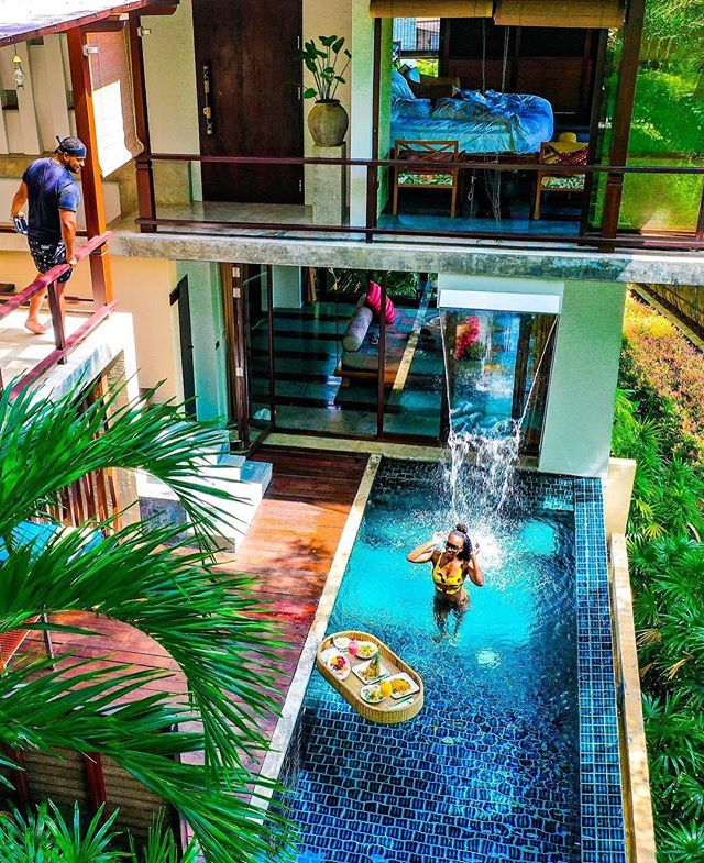Thailand's resorts and villas are architectural wonders - glistening waters and lush fauna all blend seamlessly into the buildings.  Photo by: @WhereLifeMeetsLiving