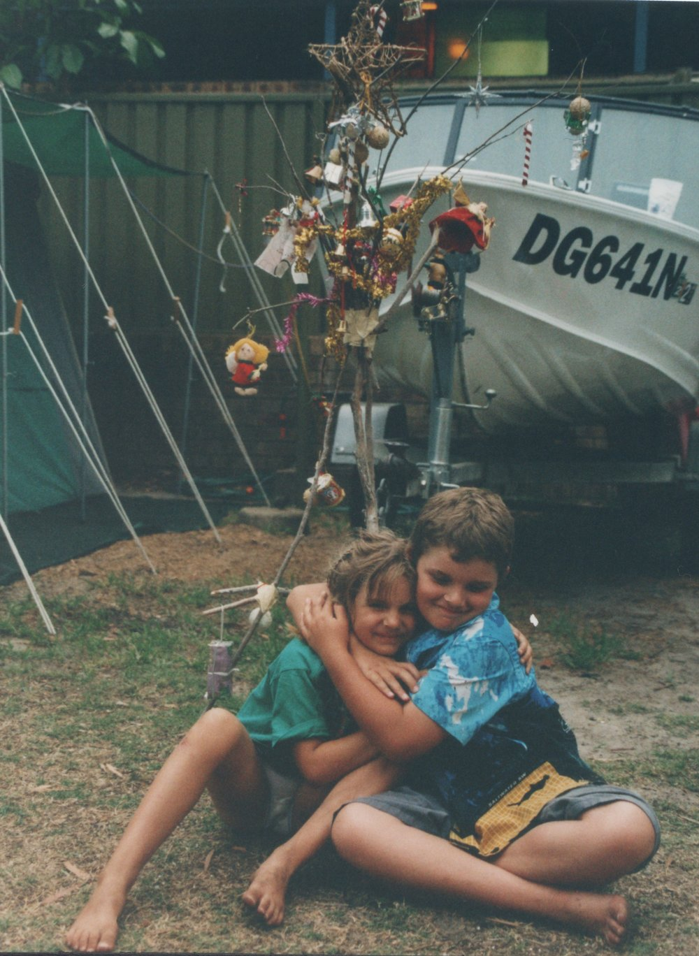 My Sister Emma and I, The Annual Family Camping Trip at Nelsons Bay 2002