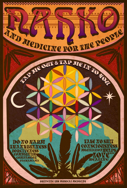 "Fan Made Festival poster for ""Nahko & Medicine for the People"" 2014"