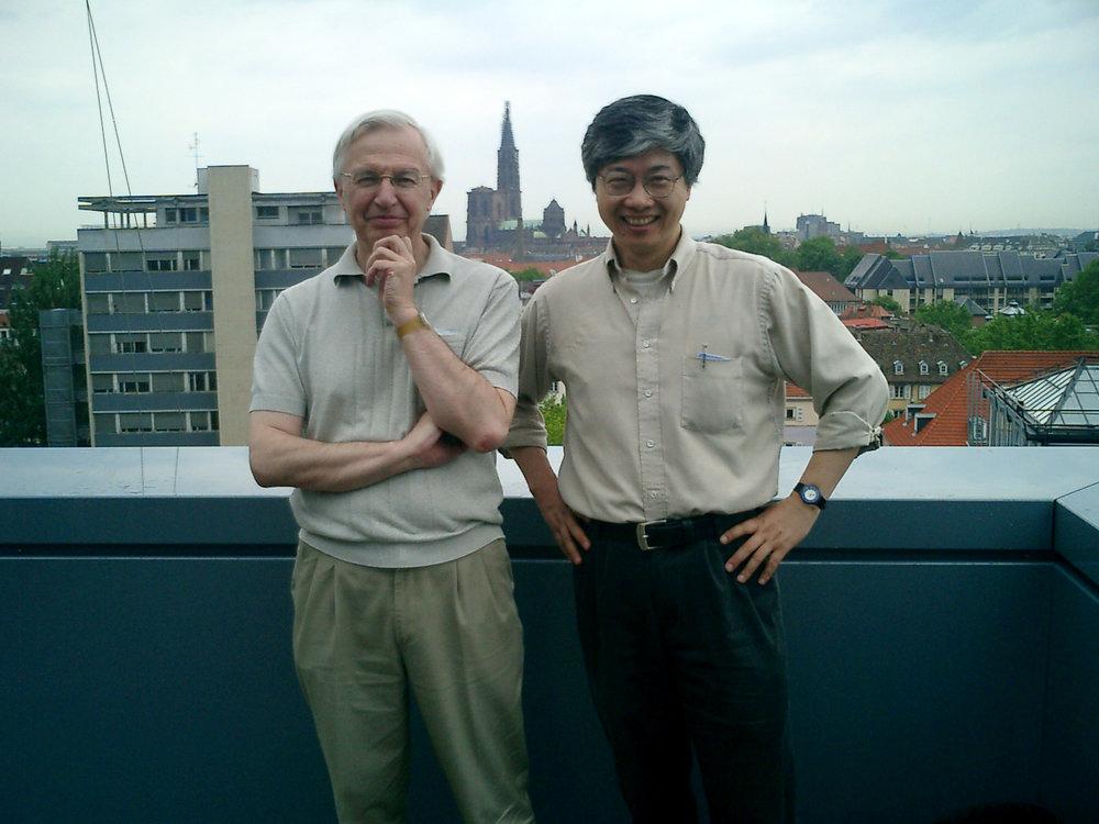 With Jean-Marie Lehn in Strasbourg, France, in 2005.