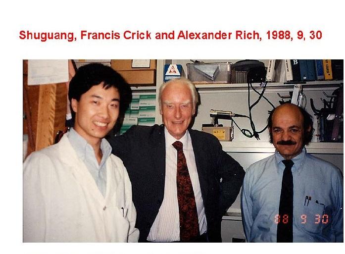 In Alexander Rich's lab at MIT.