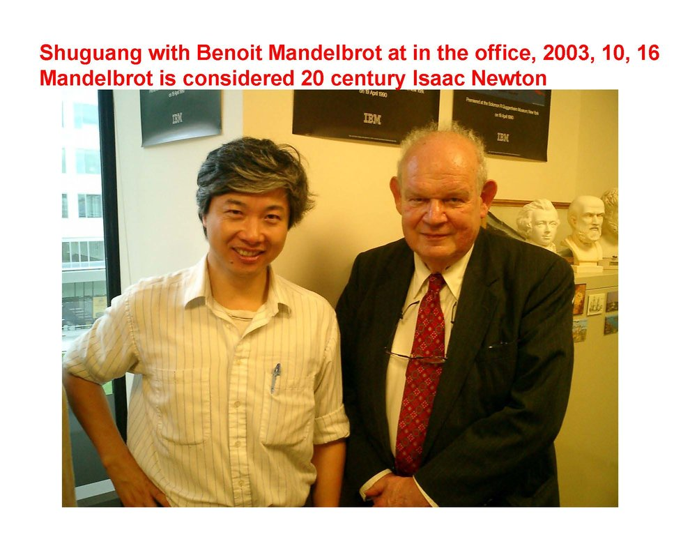 In Shuguang's office at MIT.