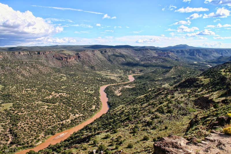 The Rio Grande seen from White Rock Overlook near Los Alamos.