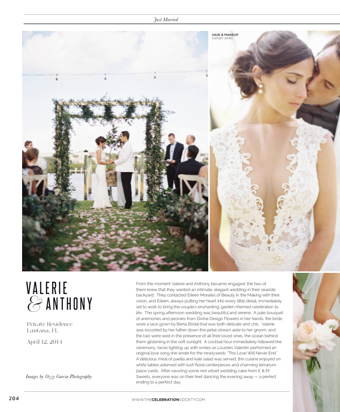 The Celebration Society Magazine Featured Beauty in the Making Valerie and Anthony Wedding Sea Side Lantana Divine Design Flowers Arch .png