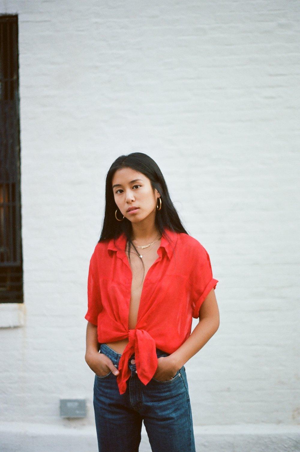 Kristen_Lam_Vintage_Red_Shirt