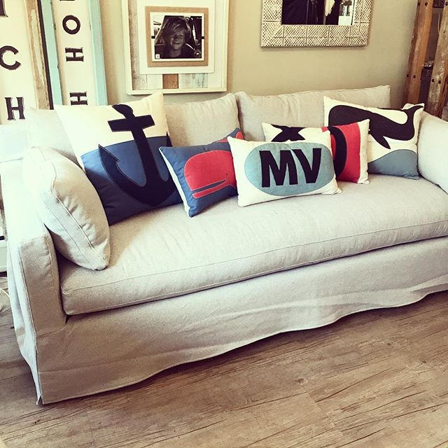 New items still coming in... custom, family friendly slipcover sofa. #brickyardmv #mv #shoplocalmv #marthasvineyard #shopmainstvh #boutiquemv #furnituremv #mvdesigners #interiordesign #summer18