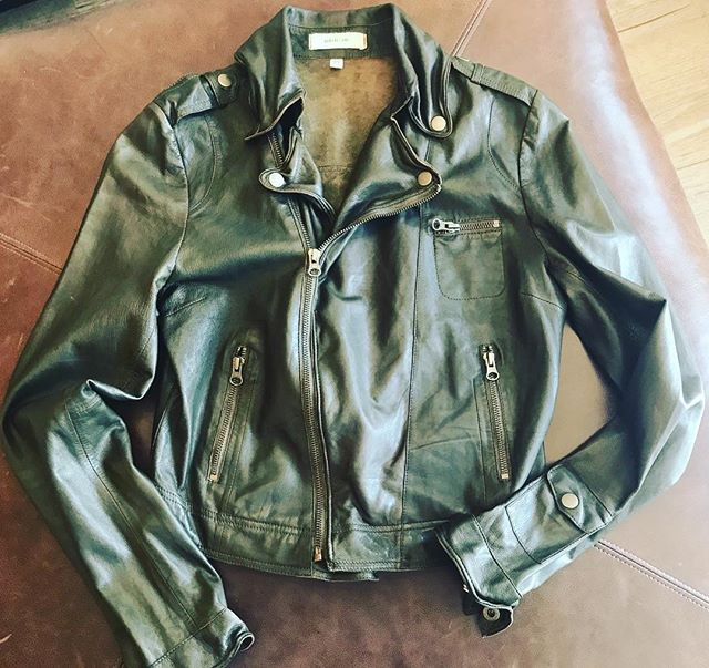 Chilly nights call for beautiful leather biker jackets!! #brickyardmv #mv #summernights #leather #bikerjacket #shoplocalmv #boutiquemv #shopmainstvh