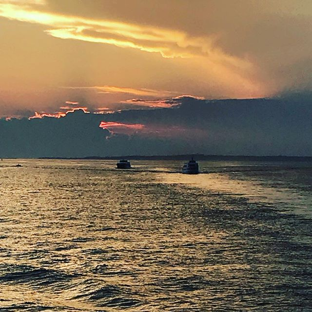 Why we live here... #brickyardmv #mv #summernights #boats #steamshipauthority