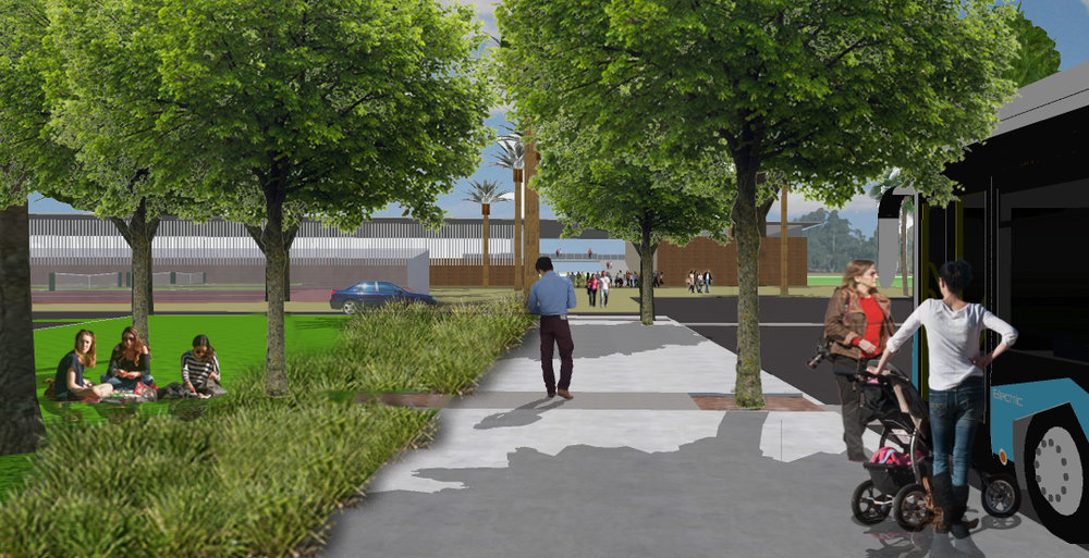 Olympic Park Sporting Precinct Masterplan artist representation (Image by TDP)