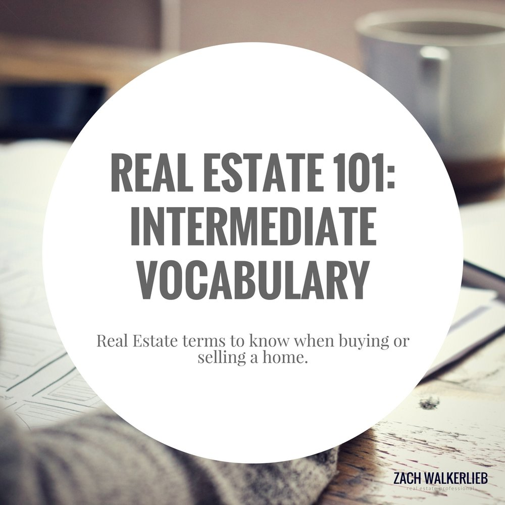 Real Estate 101: Intermediate Vocabulary - Real estate terms to know when buying or selling a home