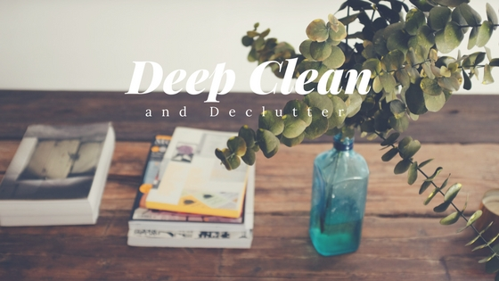 First step to getting your home show ready is a deep clean and declutter.