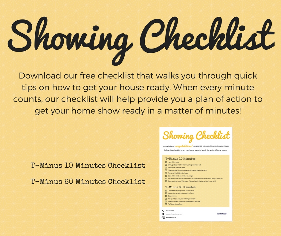 Staging Checklist - Download your free checklist that will explain how to get your home show ready in minutes.