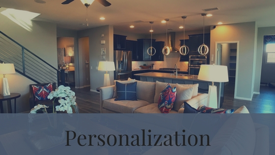 Amount of personalization is one of the differences between resale or old homes and new homes or new home builders.