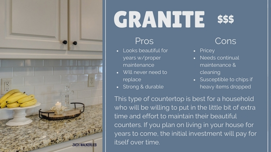Granite countertop pros and cons