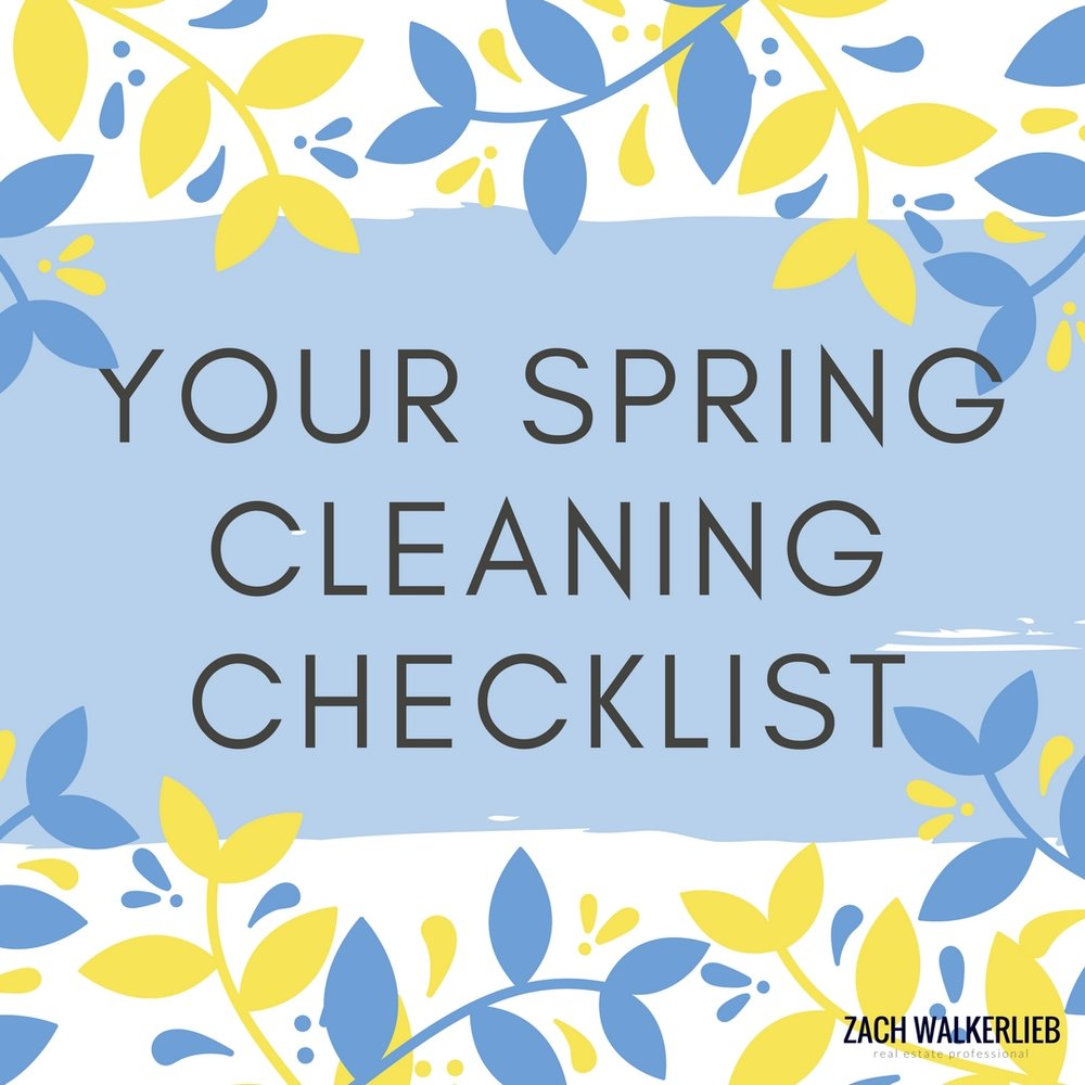 Spring Cleaning Checklist - What to focus on this spring