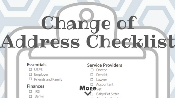 change of address checklist to make your move easier zach