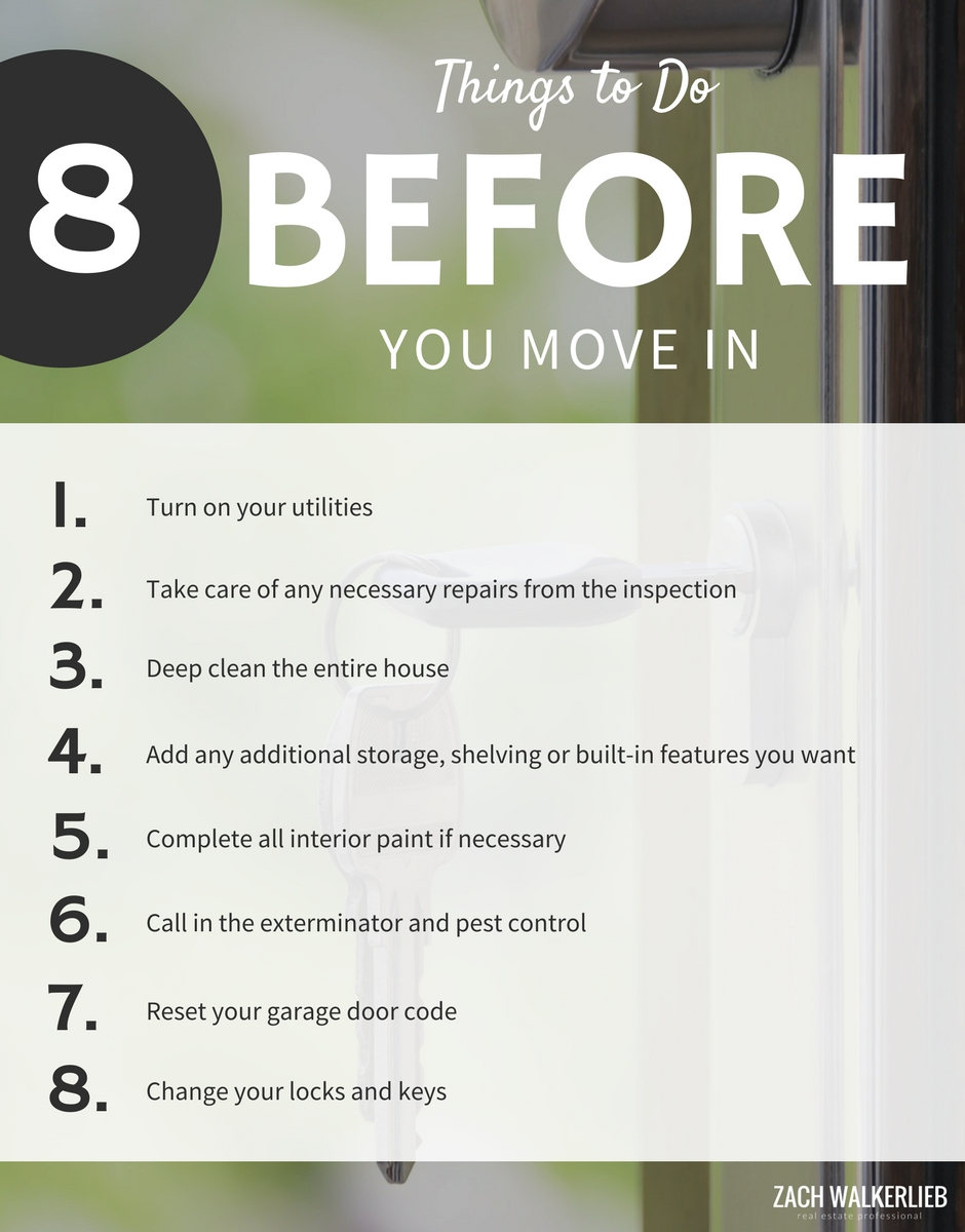 8 Things you should do before you move into your new house