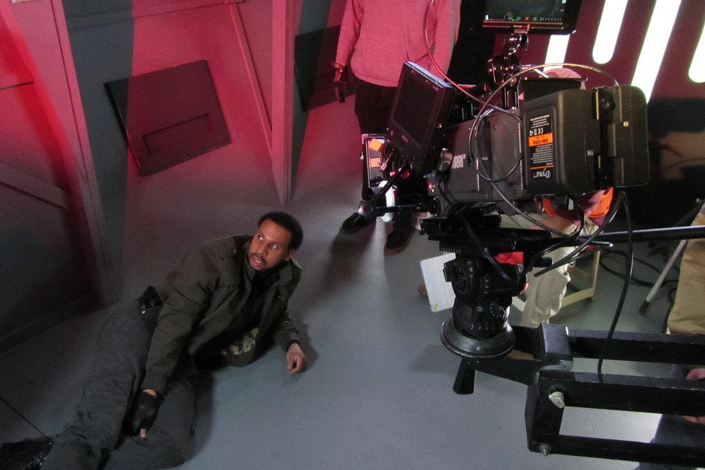 Paul Anthony Sonnier Jr. (Commander Var) on the Set of Star Wars: Dresca