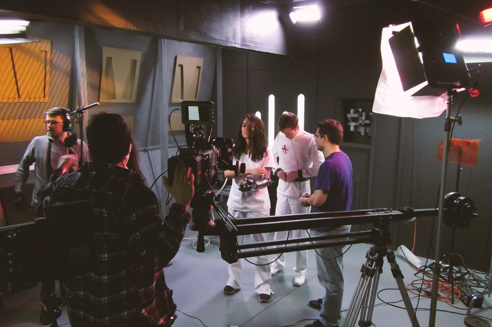 Behind-the-Scenes: On the set with Meleane Maile (Dresca), Sterling Evans (Travin Parlee), and Tom Durham (Assistant Director)