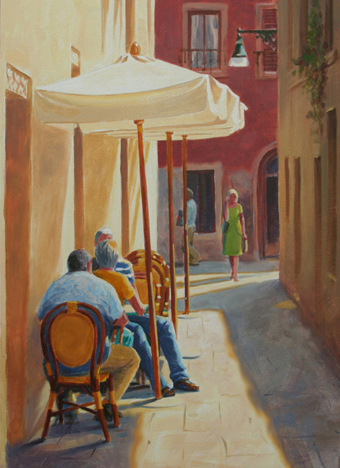 streetscape painting