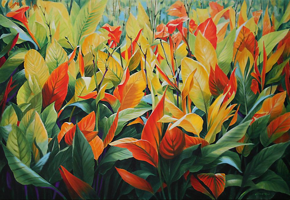 garden flower painting