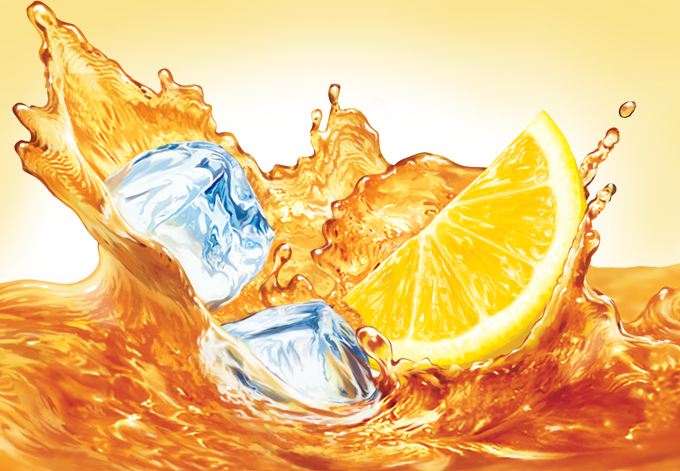 hyper real liquid splash
