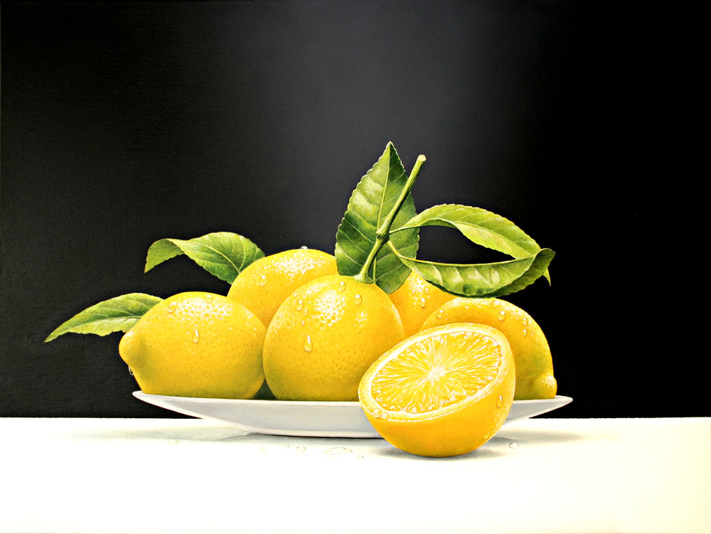 still life of lemons