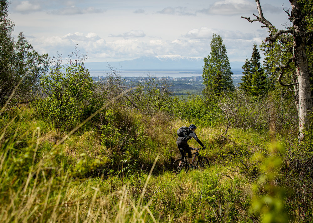 Hillside Park in Anchorage, AK provides fun trails and stunning views