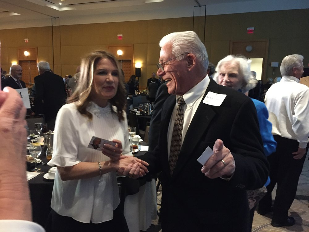 Dr Newman with Michele Bachman. Ms Bachmann served in the legislature for eight years. And was a candidate for U S president in 2012.