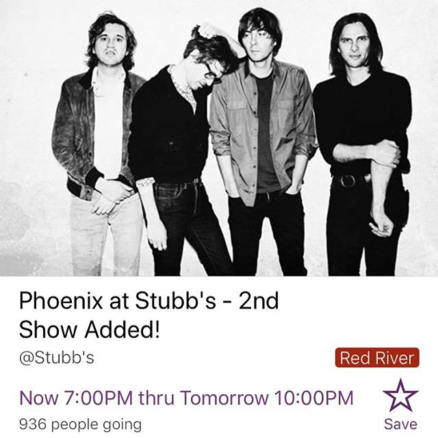 What's the move tonight?  @wearephoenix at @stubbsaustin - nothing else matters.