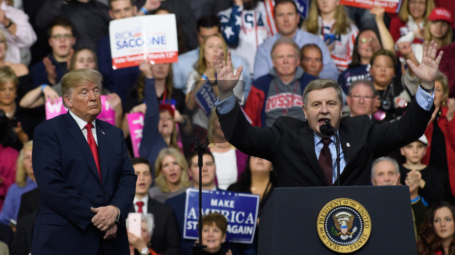 President Trump with GOP congressional candidate Rick Saccone