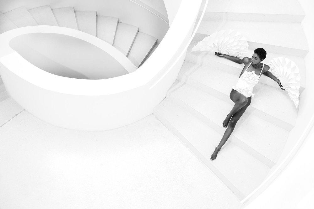 Treppenhaus Leica mit Model
