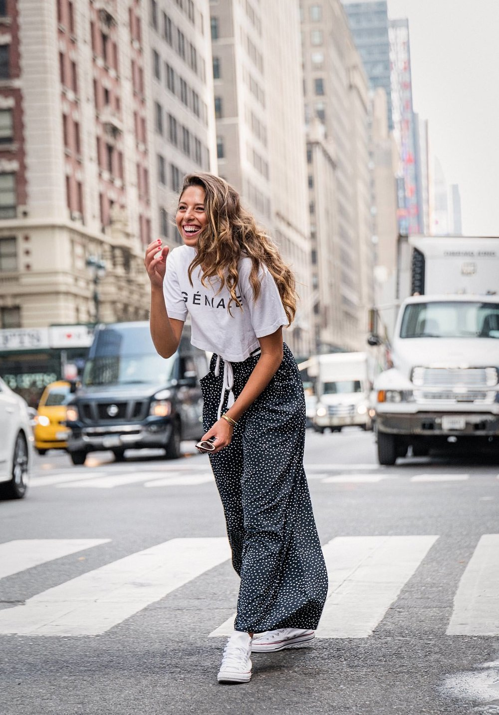 Happy Model in New York