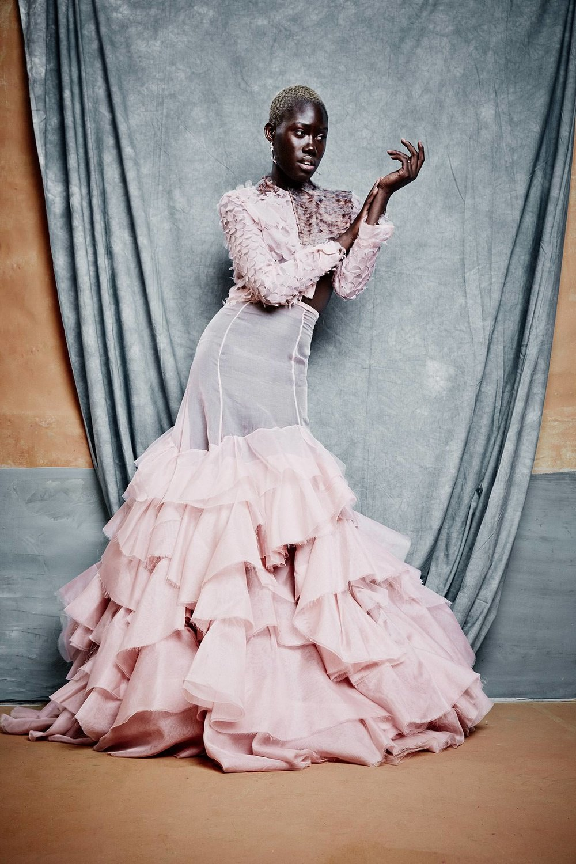 Fashion pink dress with Aminata