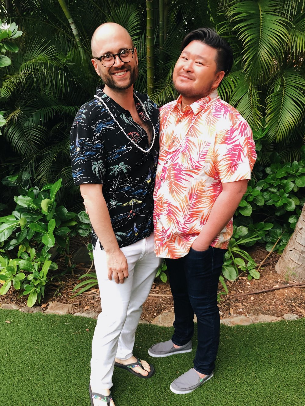 Chris and I lookin foine at the luau.