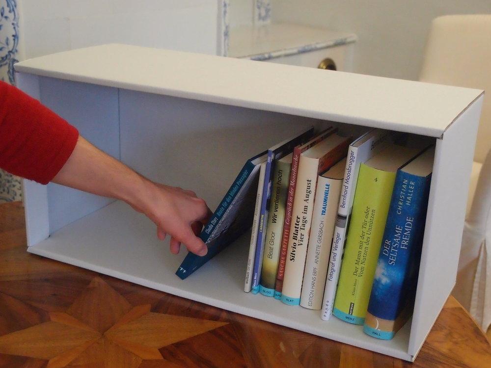 Der Bücherschuber im Aargauer Literaturhaus (weiterhin in Betrieb).