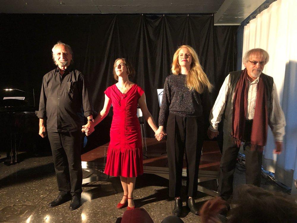 Martin Kunz, Macha Soukenik, Sofie Erhardt, Heiko Strech (v.l.n.r.). Foto: zVg.