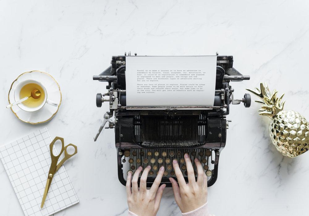 Ein Text entsteht - aber wo soll er publiziert werden? Foto: Unsplash.