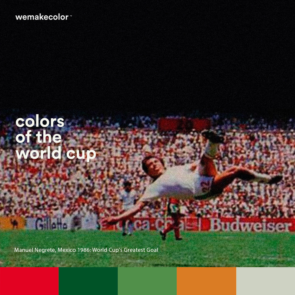 "Negrete's wonder volley is the World Cup's greatest goal. It was in Mexico 86 against Bulgaria at ""Estadio Azteca""."