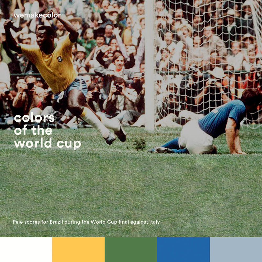 Majestic Brazil Sweeps Italy in Mexico 1970 with Pele, Rivelino and Jairzinho at the attacking force.