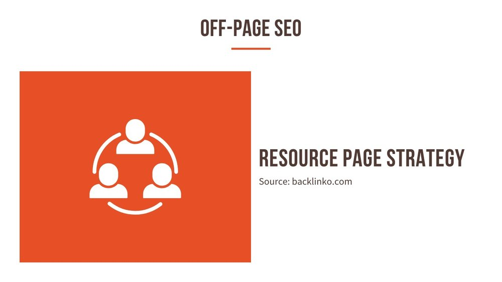 Resource page strategy