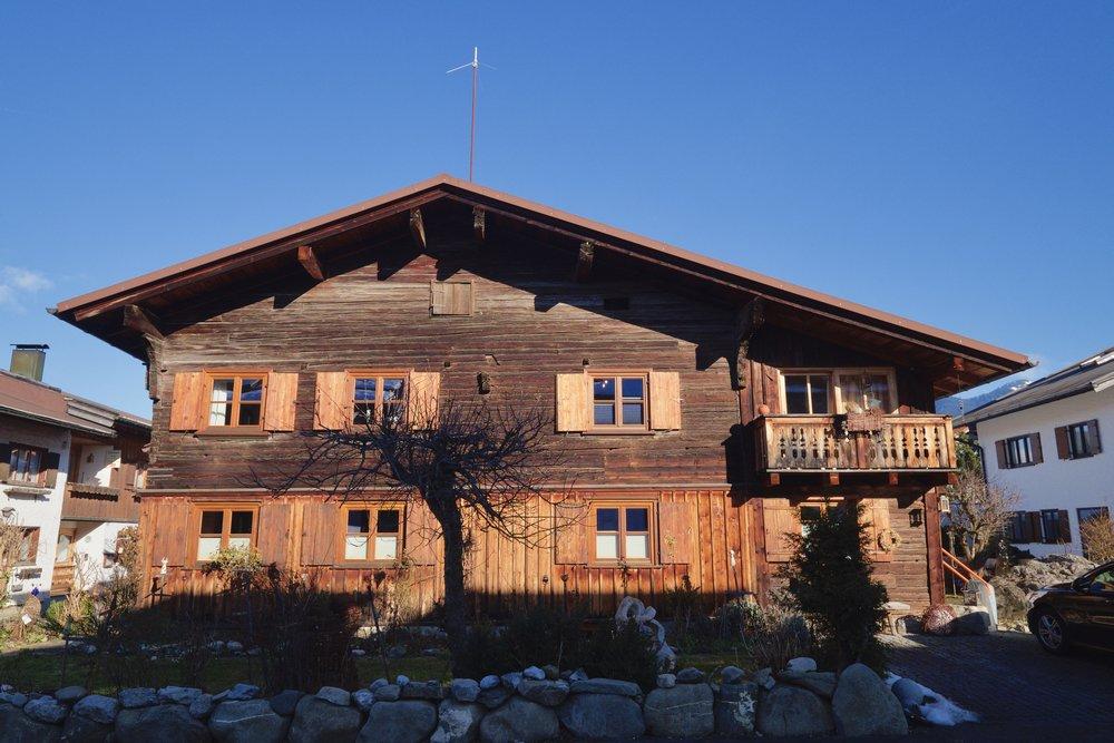 Vackra hus i Oberstdorf