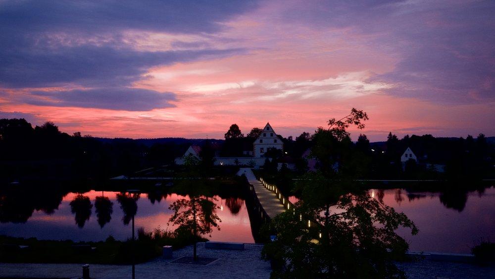 Fischhof vid solnedgången