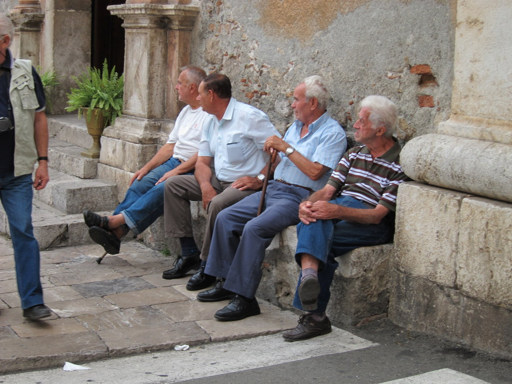 Italian men in Taormina