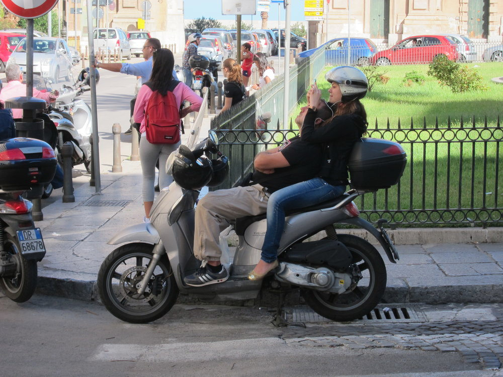 Vespa couple in Palermo