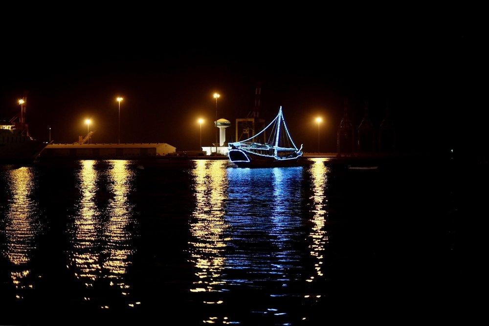 Hamnen i Maskat vid Cornish