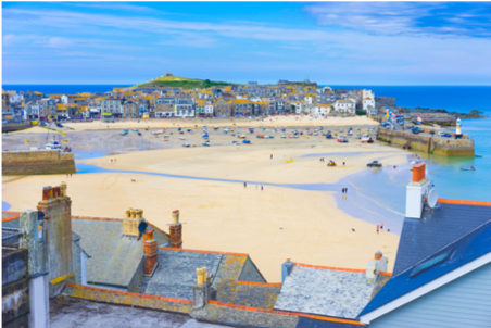 The picturesque town of St Ives